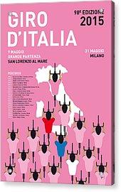 My Giro D'italia Minimal Poster Percorso 2015 Acrylic Print by Chungkong Art