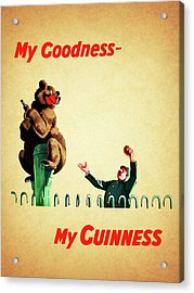 My Goodness My Guinness 2 Acrylic Print by Mark Rogan