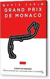 My Grand Prix De Monaco Minimal Poster Acrylic Print