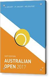 My Grand Slam 01 Australian Open 2017 Minimal Poster Acrylic Print by Chungkong Art