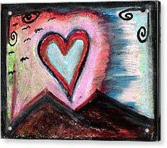 My Heart As The Sun Acrylic Print by Levi Glassrock