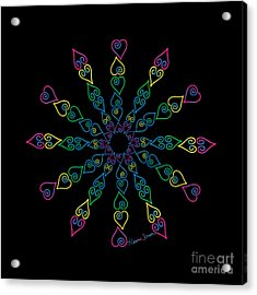 My Heart Flip Flops Acrylic Print