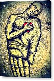 My Heart In Your Hand Acrylic Print by Paulo Zerbato