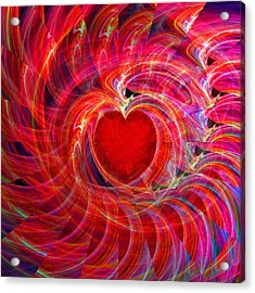My Heart Is All A Flutter Acrylic Print by Michael Durst