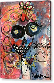 Acrylic Print featuring the painting My Heart Is So Happy To Know You by Laurie Maves ART