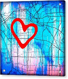 My Heart Lies In Los Angeles Acrylic Print