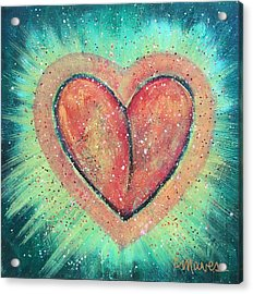 Acrylic Print featuring the painting My Heart Loves You by Laurie Maves ART