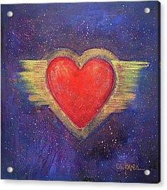 My Heart My Strength Acrylic Print by Laurie Maves ART
