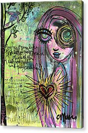 My Heart Sings Like This Little Bird Acrylic Print by Laurie Maves ART