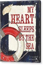 My Heart Sleeps By The Sea Acrylic Print