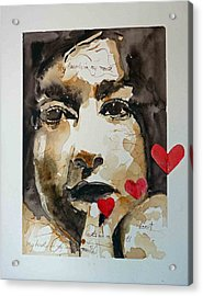 Acrylic Print featuring the painting My Hearts In My Mouth by P Maure Bausch