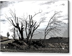 My Home Town-after The Storm Acrylic Print by Robert Litewka