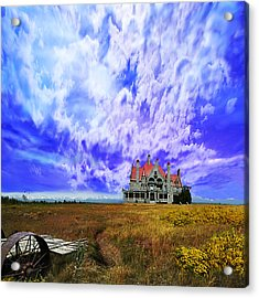 My House On A Hill Acrylic Print by Jeff Burgess