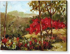 My House Over Yonder Acrylic Print by Monica Linville