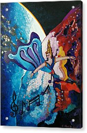 Acrylic Print featuring the painting My Inspirational Goddess by Ray Khalife