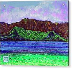 My Island Design  Acrylic Print by Debbie Chamberlin