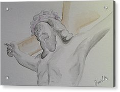 My Jesus Acrylic Print by Donielle Boal