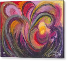 Acrylic Print featuring the painting My Joy by Ania M Milo