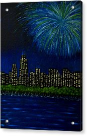 My Kind Of Town Acrylic Print by Marie Lamoureaux