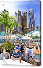 My Kinda Town Acrylic Print by Mike Hill