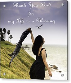 My Life A Blessing Acrylic Print