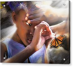 My Little Butterfly Acrylic Print by Bob Salo