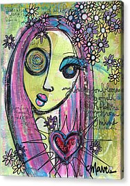 My Love For You Blooms Acrylic Print by Laurie Maves ART