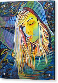 Acrylic Print featuring the painting My Love by Joshua Morton