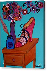 Acrylic Print featuring the painting My Love by Pristine Cartera Turkus