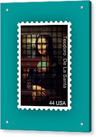 My Mona Lisa Stamp Series Acrylic Print by Teodoro De La Santa
