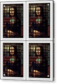 My Mona Lisa Weave  4 Acrylic Print by Teodoro De La Santa