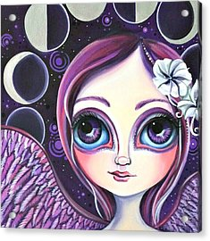 My moon Phase Angel Original Acrylic Print
