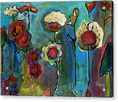 Acrylic Print featuring the painting My Mother's Garden by Susan Stone