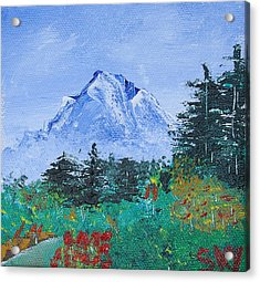 My Mountain Wonder Acrylic Print by Jera Sky
