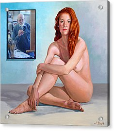 My Muse And I  Acrylic Print by Paul Krapf