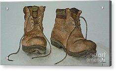 My Old Hiking Boots Acrylic Print
