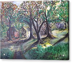 Acrylic Print featuring the painting My Old Southern Plantation Home by Gary Smith