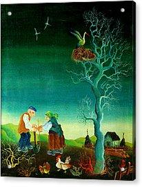 My Old Village  Acrylic Print by Leon Zernitsky