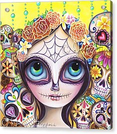My Original sugar Skull Princess Acrylic Print
