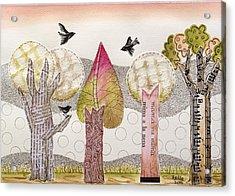 My Pink Trees Acrylic Print