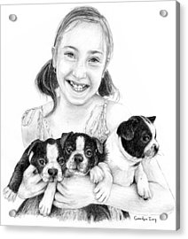 My Puppies Acrylic Print
