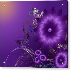 My Purple Day Acrylic Print
