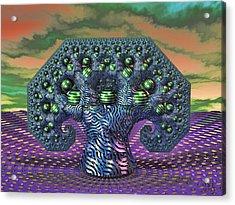 Acrylic Print featuring the digital art My Pythagoras Tree by Manny Lorenzo