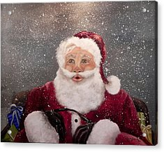 My Santa Acrylic Print by Laura Brown