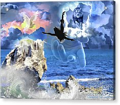 Acrylic Print featuring the digital art My Savior by Dolores Develde