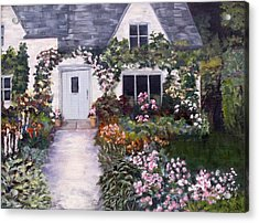 Acrylic Print featuring the painting My Secret Place by Diane Daigle