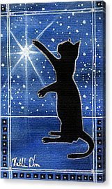 My Shinning Star - Christmas Cat Acrylic Print