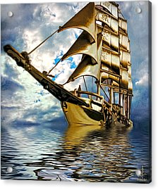 My Ship Comes In Acrylic Print by Pennie  McCracken
