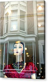 My Shop And I Say Who Comes In Acrylic Print by Jez C Self