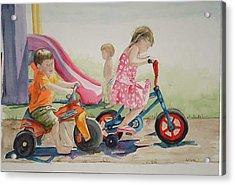 My Sisters Grandkids Acrylic Print by Diane Ziemski